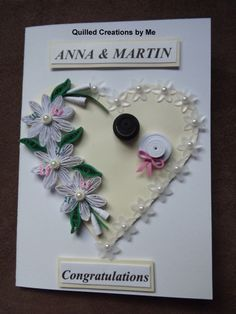 Quilled Wedding card made by Quilled Creations by Me