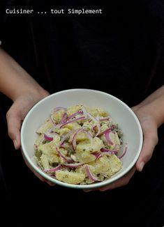 Salade de Pomme de Terre - Oignons - Cornichons - Cuisiner... tout Simplement, Le Blog de cuisine de Nathalie