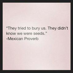 Trataron de enterrarnos... No se dieron cuenta que somos semillas....