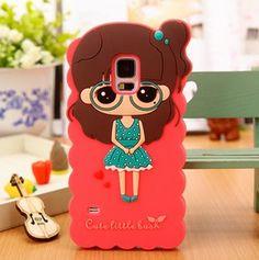 Samsung Galaxy S5 Cute Girl 3d Silicon Case