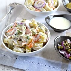 Creamy Potato Salad with Smoked Salmon