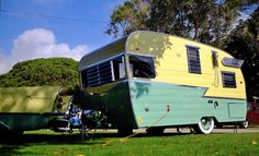 If you have dampness because of condensation then you are going to want to remedy for mold issues. If you supply both of these things then mold is a joyful camper. Vintage Campers Trailers, Retro Campers, Vintage Caravans, Camper Trailers, Shasta Trailer, Shasta Camper, Vintage Rv, Vintage Vans, Old Campers