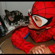 such a sweet spiderman ❤