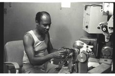 King Tubby happily rewinding electric motor 1977 © Dave Hendley