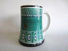 Mid Century Modern Tankard Vintage Beer Stein Mug by pillowsophi #vintage #midcentury #beer #stein