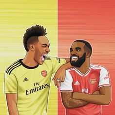 Football Art, Arsenal Football, Aubameyang Arsenal, English Premier League, Football Wallpaper, Illustration Art, Basketball, Wallpapers, Club