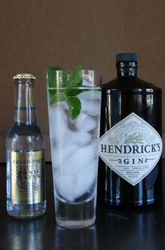 Hendrick's and fever tree gin & tonic, instead of the mint, it will be better some cucumber....