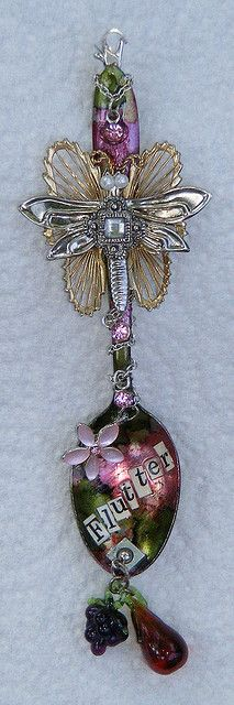 butterfly altered spoon, absolutely magical!  ...now this is a spoon that would help the medicine go down!!! :)