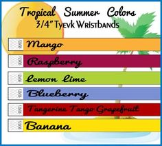 Nice Summer Color wristbands