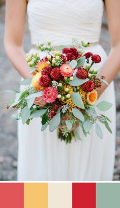 Love these colors.   Late Summer Wedding Flowers   House of ...