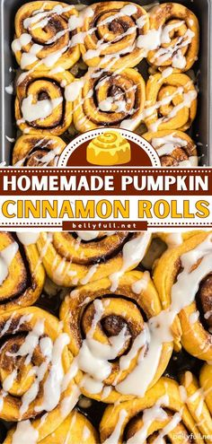 This pumpkin recipe makes the perfect breakfast or brunch this fall season! Find yourself looking forward to mornings for these easy homemade cinnamon rolls. Don't forget the vanilla cream cheese… Cinnamon Roll Icing, Pumpkin Cinnamon Rolls, Canned Pumpkin, Easy Brunch Recipes, Fall Recipes, Pumpkin Fluff, Savory Pumpkin Recipes, Perfect Breakfast, Pumpkin Spice Latte