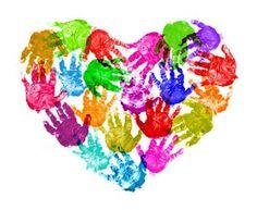 Autism Hand Print Heart