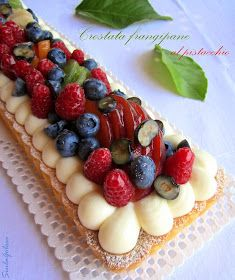 Siula Golosa: Crostata frangipane al pistacchio, namelaka e frutta