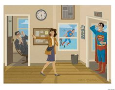 """deantrippe: """" lucyknisley: """" I was just thinkin' about superman recently. And how awesome Lois Lane is. She's too much woman for TWO identities. """" best superman thing i've seen all year. Superman And Lois Lane, Superman Art, Superman Stuff, Batman, Comic Book Characters, Comic Books Art, Lucky Luke, Nerd Herd, Comic Games"""
