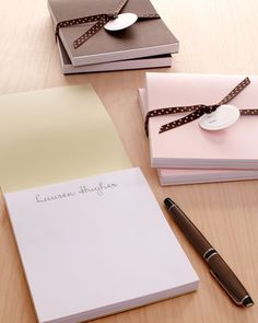 Two Notepads with Folder Covers at #Horchow.