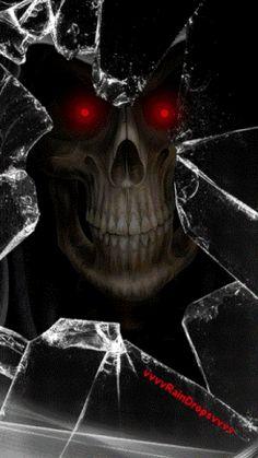 iPhone Wallpaper - Halloween is coming to get you Skull Wallpaper, Iphone Wallpaper, Cracked Wallpaper, Crane, Grim Reaper Art, Reaper Tattoo, Horror, Skull Pictures, Skull Artwork