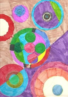 Modern Art 4 Kids: Sonia Delaunay inspired abstract art project with markers