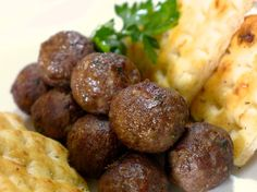 Greek Meatballs recipe (Keftedes) - try w tzatziki as a lettuce wrap?