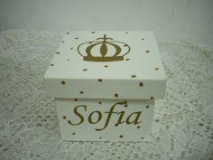 lembrancinha maternidade chá, aniversários coroa caixa mdf