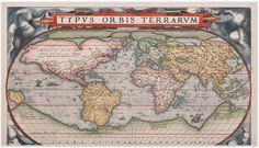 Map - Typus Orbis Terrarum, 1570 (1571)
