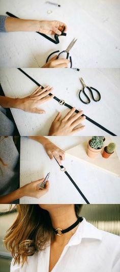 Sexy DIY velvet choker necklace  #DIY #choker #womentriangle