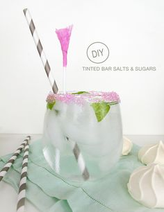 DIY tinted salts and sugars #cocktails #drinks