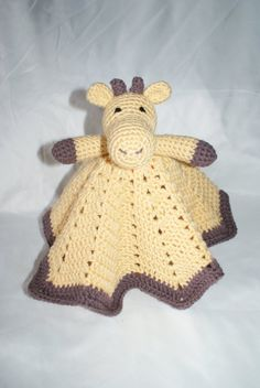 Giraffe Lovey Blanket PDF Pattern. Security Blanket. by TMKCrochet, $0.99