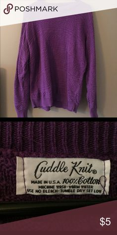 Purple sweater Purple sweater. Goes great with leggings. Fits a little loose so it is comfy to wear. cuddle knit Sweaters Crew & Scoop Necks