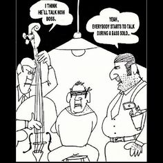 Musical joke ~ Bass Solo! Pinned by Forbes Music Company ~ http://forbesmusic.com