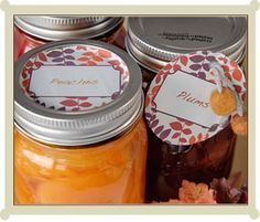 Lots of cute canning labels, printable pdf format from sweetpreservation.com