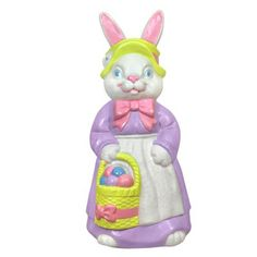 Vintage union product blow mold easter bunny rabbit cart - Light up easter decorations ...