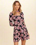 Girls Floral Choker Skater Dress | Girls Dresses & Rompers | HollisterCo.com