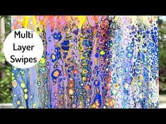 Acrylic Paint Pouring with Multi- Layered Swipes and Skimming. Fluid Painting. Abstract Art - YouTube