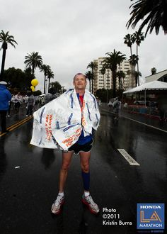 Musician Flea of the Red Hot Chili Peppers after finishing the 2011 LA Marathon in 3:53    Photo by Kristen Burns