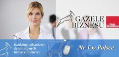 Z przyjemnością informujemy, że Nasza firma została liderem w Polsce w prestiżowym rankingu  e-GAZELE BIZNESU