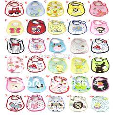 Libre toalla saliva del bebé del envío impermeables baberos Patrón 3 Capa Niño almuerzo de la historieta New Kids envío de la gota