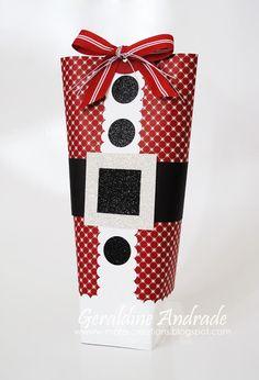 Stampin' Up! Christmas by Geradine Andrade at Mafer's Creations: SANTA BAG