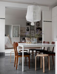 dining space in kitchen of old shop turned home in malmö