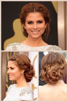 Maria Menounos - Oscar hair 2014 bridesmaid hairstyle option