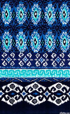 Kasbah - Ikat Medallions Stripe - Quilt Fabrics from www.eQuilter.com