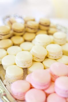 Macaroons in our wedding colors would be the perfect after-dinner accompaniment to our wedding cake.