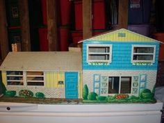 Vintage Marx Tin Litho Two Story Tin Dollhouse Plus 39 Pieces of Furniture   eBay