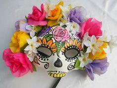 Day of the Dead día de los muertosSugar skull mask by MaLadyMasks, $45.00