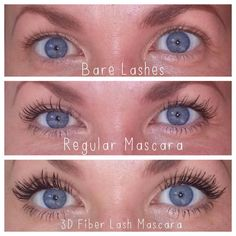 Regular vs 3D Fiber Lash Mascara