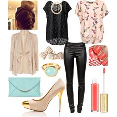How to Wear Leather in The Work Place! by cayla-monette, via Polyvore
