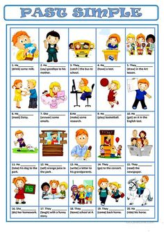 English ESL worksheets, activities for distance learning and physical classrooms English Grammar Worksheets, English Verbs, Grammar Lessons, English Vocabulary, English Language, English Study, English Lessons, Learn English, Past Tense Worksheet