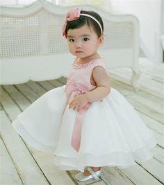 Menina primeiro Aniversário Do Bebê recém-nascido Outfits Little Bridresmaid Vestido de Casamento Crianças Frock Designs Natal Das Meninas Do Vestido Do Bebê Vestido Tutu