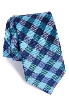 Men's Ted Baker London Check Silk Tie