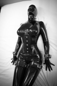 Latex Catsuit and Hood № 2