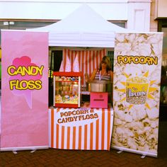 Candy Floss & Popcorn Stall provide your guests with the perfect Circus snack!  http://bigfootevents.co.uk/entertainment/Themed-Events/Circus-Carnival-Mardi-Gras-Theme.as